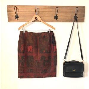 NWT Lafayette 148 New York Wool Blend Skirt
